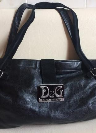 Dolce &gabbana оригинал шикарная сумка 100% кожа