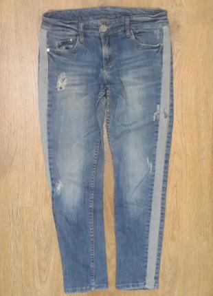 """Классные джинсы с """" ломпасами """". размер 28"""