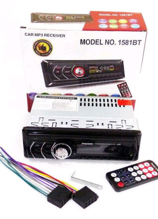 Автомагнитола 1DIN MP3-1581BT RGB/Bluetooth