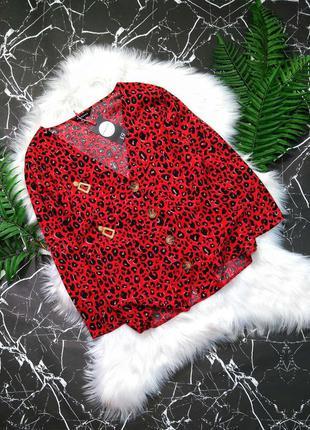 Новая блузка леопардовый принт