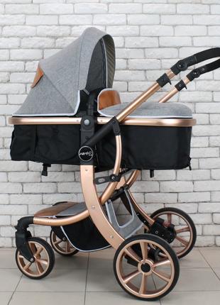 Детская коляска Aimile 2в1 для новорожденных с 0 и до 3х лет