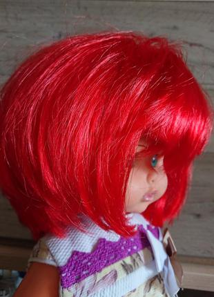 Яркий карнавальный парик декоративный боб каре с неровной челкой