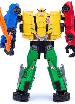 Робот трансформер Ультра Би 4в1: Сайдсвайп Гримлок Бамблби Стр...
