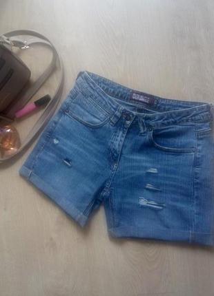 Распродажа!!! джинсовые шорты с дырками и потёртостями denim co