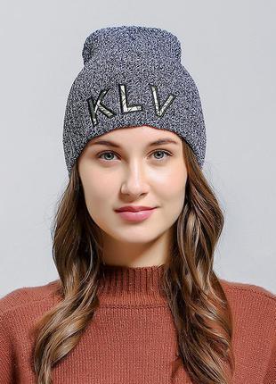Крута шапка модная вязаная шапка бини 13245
