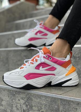 Nike m2k кожаные женские кроссовки найк белый цвет (весна-лето...