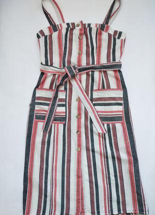Платье сарафан в полоску размер m