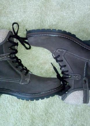 Замшевые высокие ботинки на меху highland creek оригинал