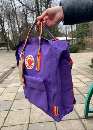 кан кен с радуго fjallraven kanken сумка рюкзак в школу