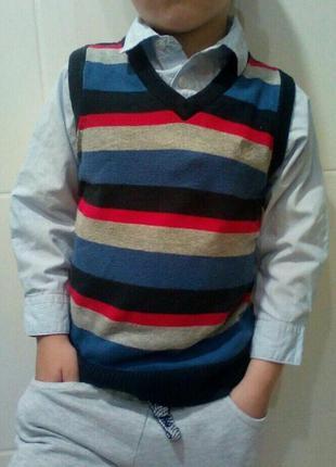 Рубашка обманка детская на 4-5  лет