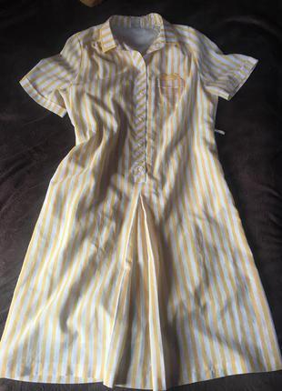 Платье в полоску большой размер летнее длинное