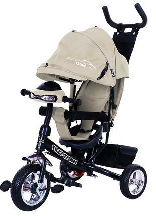 Детский трехколесный велосипед TILLY Titan T-348 Серый