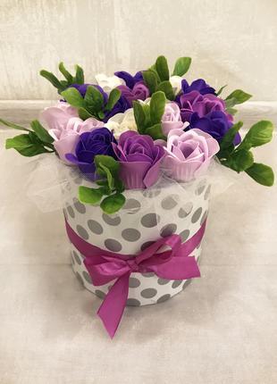 Букет из мыльных роз. Подарок 8 марта