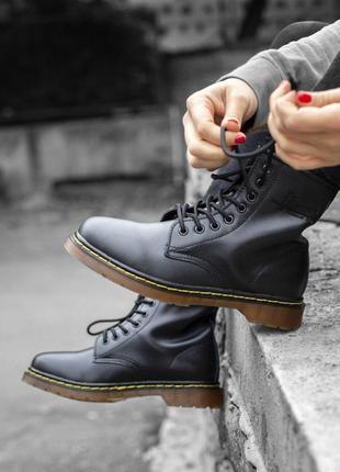 Распродажа🔥dr.martens кожаные меховые женские ботинки мартинс ...