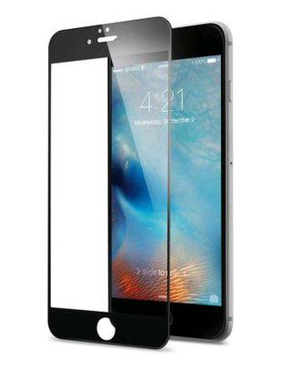 Защитное стекло Apple iPhone 6 / 6s черный 5D (тех упаковка)