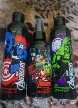 Подарочный набор для мальчиков 3шт Marvel Avengers Халк Супермен