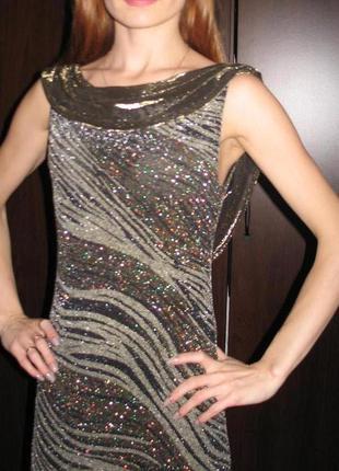 Вечернее платье в пол grifflin paris, спинка открыта, разрез д...