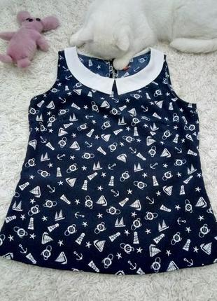 Блуза с морской тематикой