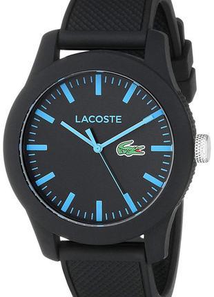 Часы наручные lacoste 2010791 черный цвет силиконовый ремешок