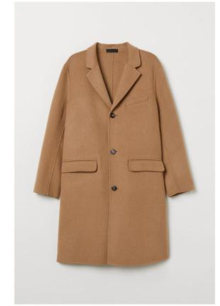 Пальто миди кемел,пальто шерсть камелевый,пальто в мужском стиле