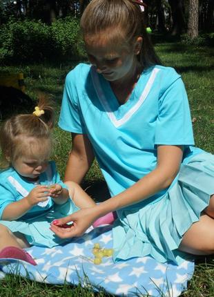 Платья для мамы и дочки , одинаковые платья, family look