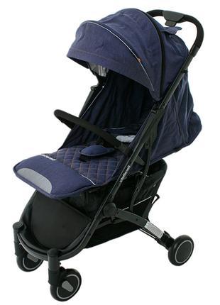 Прогулочная коляска Bene Baby D200 джинс на черной раме