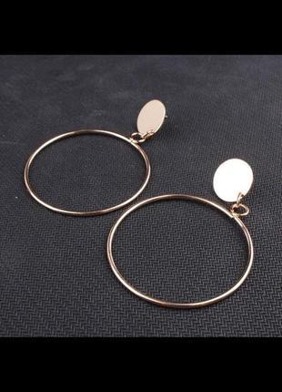 Стильные серьги кольца