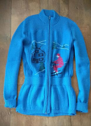 Кофта кардиган гольф свитер лонгслив джемпер пуловер  hand made