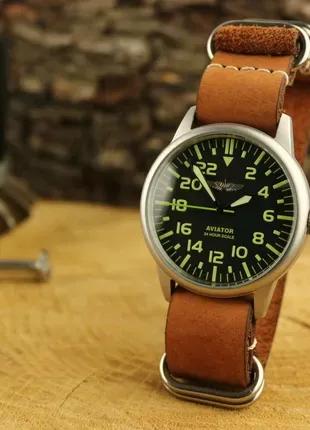 Мужские механические часы Ракета Авиатор 24 часа