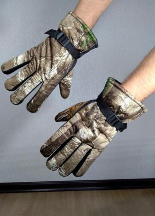 Мужские зимние перчатки для охоты и рыбалки.