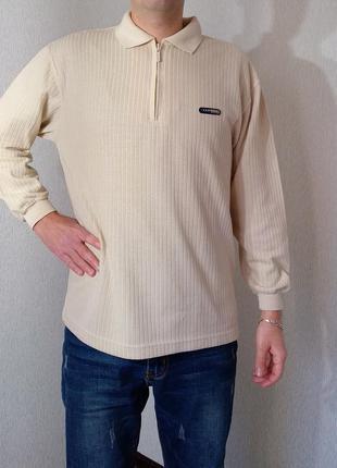 Турецкий мужской шерстяной теплый свитер