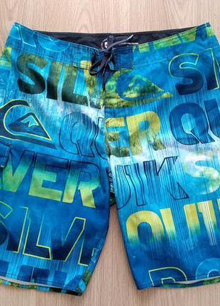 Пляжные шорты quiksilver цвет голубой