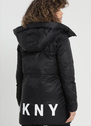 Новый пуховик одеяло dkny (парка, куртка) 90% пух оригинал l-4...