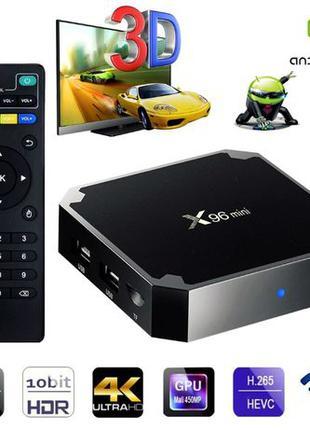 Смарт ТВ приставка на Андроид X96 mini 2/16 GB box IPTV