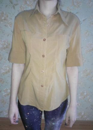 Классная рубашка горчичного цвета