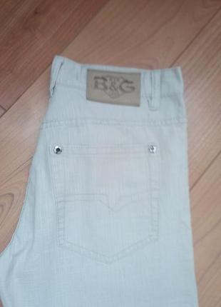 Мужские брюки джинсы коттон светло бежевые