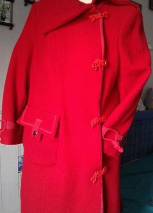 Оригинальное пальто ассиметричное шерстяное  р 48(корея)-стиль...