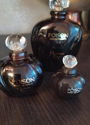 Винтажные духи christian dior poison, esprit de parfum, 15 мл