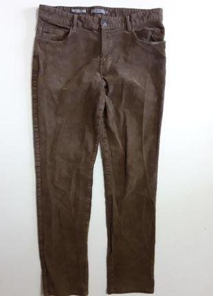 Фирменные стрейчевые вельветы брюки штаны 34р.