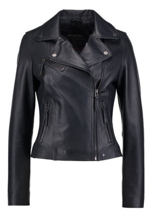 Новая куртка косуха oakwood, франция. цвет navy blue кожаная к...