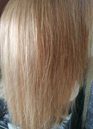 Натуральный парик русого цвета славянские волосы Реми