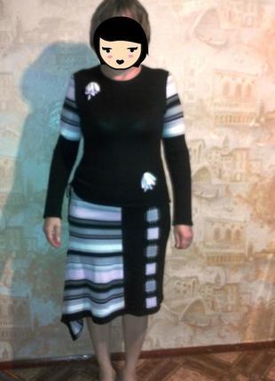 Костюм машинная вязка юбка + кофта