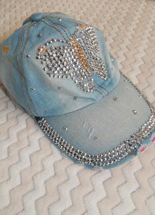 Жіноча кепка бейсболка джинсовая
