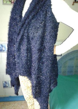 Кардиган-безрукавка р 48-52-стильно тепло и нарядно