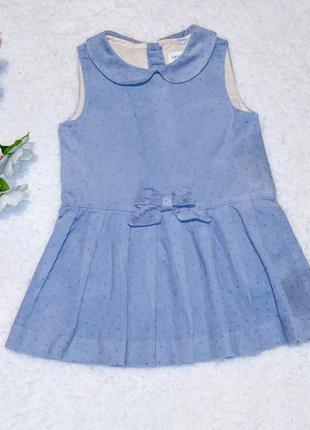 Вельветовое платьице для девочки на 9 месяцев
