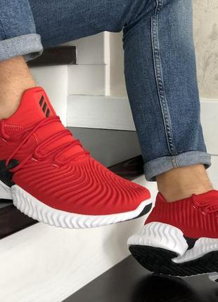 Adidas alphabounce red white, мужские кроссовки