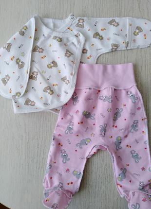 Теплый костюм для новорожденного  ползунки и кофта