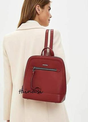 Рюкзак david jones 6111-2t bordeaux оригинал бордовый красный ...