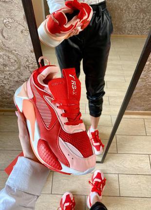 Puma rs-x red женские кроссовки пума