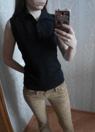 Рубашка безрукавка черная от esprit